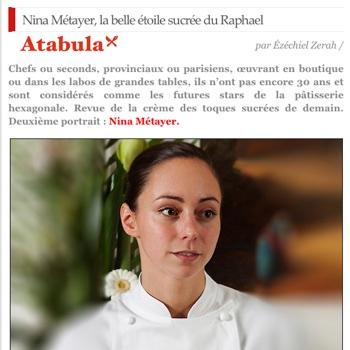 Nina Métayer, pâtissière sur Atabula
