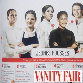 Nina Métayer : jeunes chefs dans Vanity Fair février 2015