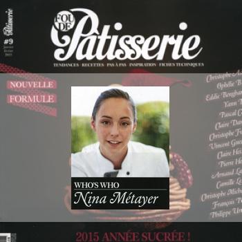 Nina Métayer : Whos's Who magazine Fou de Pâtisserie