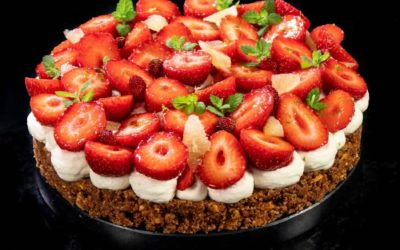 Crispy strawberry tart
